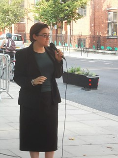 Cllr Sarah Hayward speaking