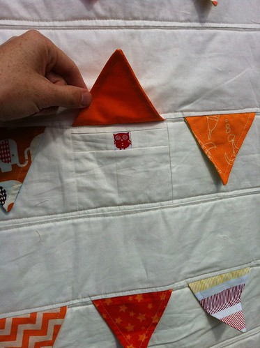 Fly the Flag Quilt - Orange version peekaboo