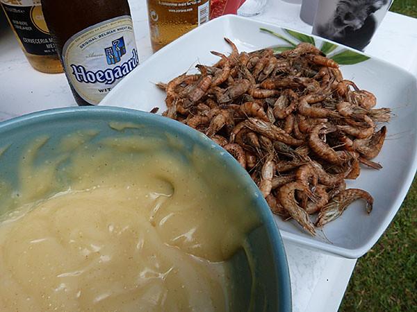 crevettes et mayonnaise
