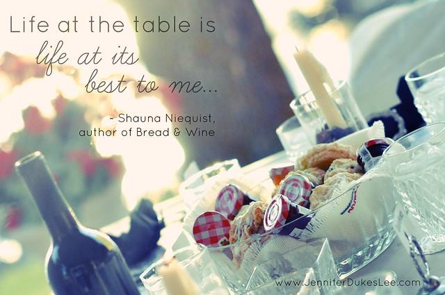 bread and wine, shauna niequist,  table