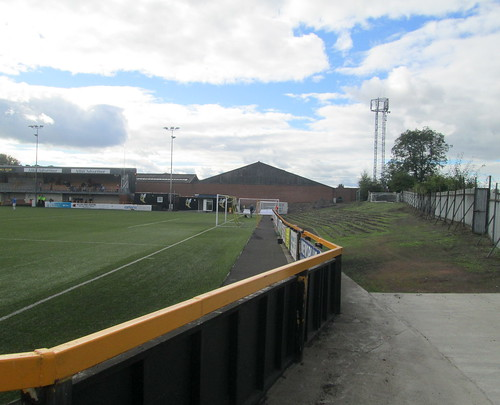 Recreation  Park, Old Terracing Behind Goal