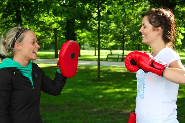 Rebecca Cox boxing