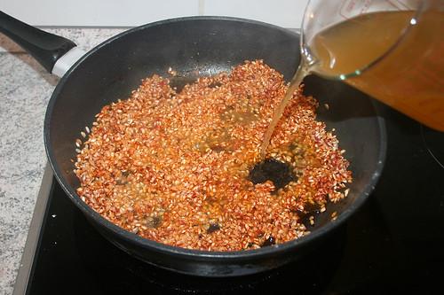 36 - Gemüsebrühe angießen / Drain vegetable stock