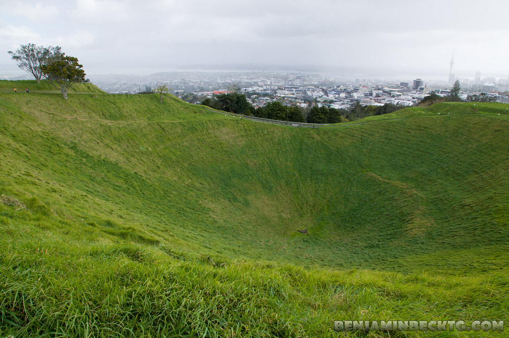 Volcano crater of Mount Eden