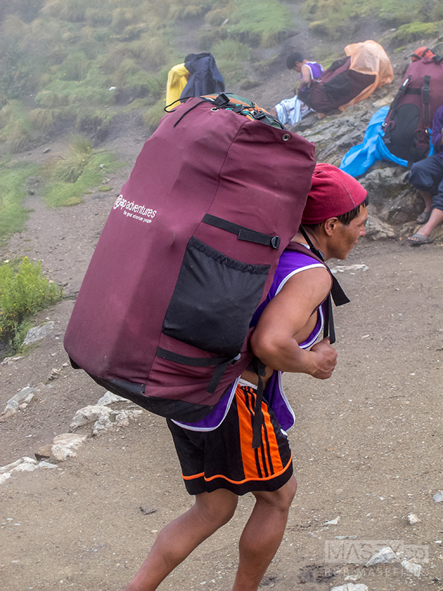 The tireless, amazing porters kept on coming too.