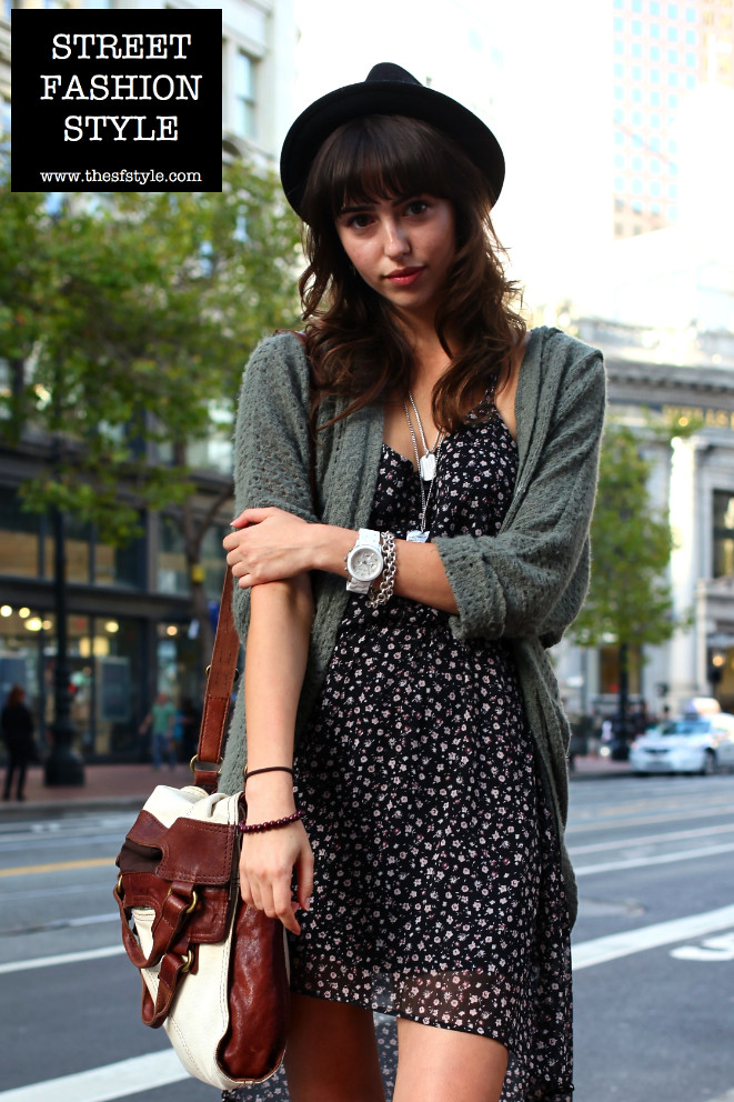 lucky brand abbey road foldover crossbody leather bag, white michael kors oversized watch, fedora hat, san francisco fashion blog, streetstyle, street fashion style,