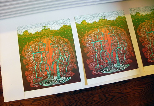 """AQUIFER"" Woodcut Print // The Four Elements Set by Tugboat Printshop"