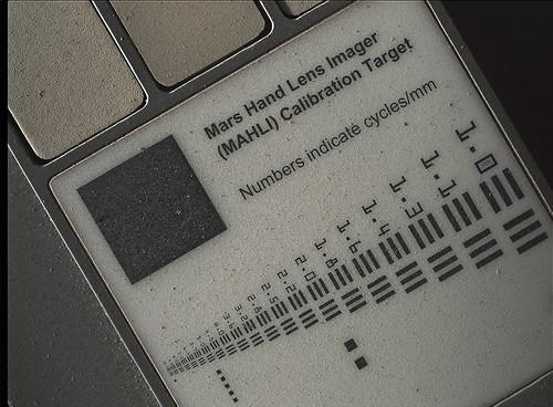 Curiosity Sol 411 MAHLI calibration target