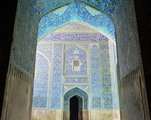 Puerta de la Mezquita del Shah (Isfahán, Irán)