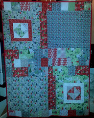 Christmas Cards Quilt Back