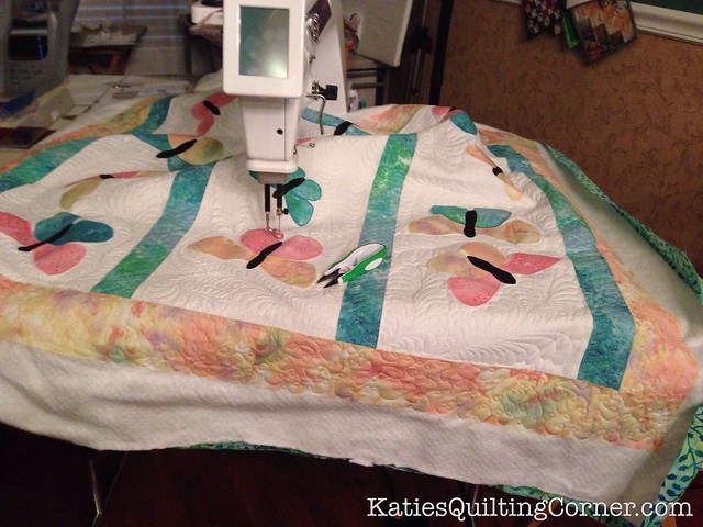 Feather quilting and the butterfly quilt
