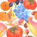 Pattern fall fruits by kana hata