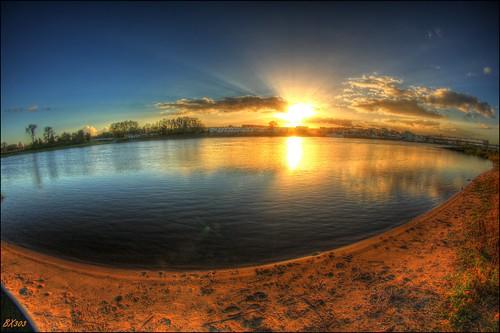 autumn sun water canon germany sand sundown fisheye elbe weitwinkel photomatix schönebeck