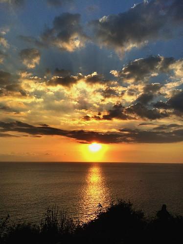 sunset beach silhouette indonesia ngc lombok