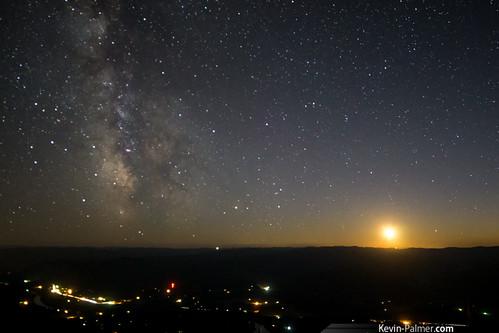 Milky Way at Moonset