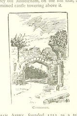 """British Library digitised image from page 180 of """"Handbook for Tourists in Yorkshire, and complete history of the county. With ... illustrations [By W. W, i.e. W. Wheater.]"""""""