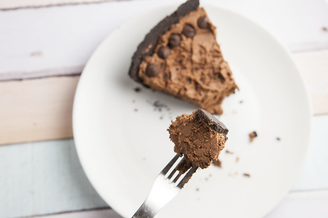 Delicious dessert recipe for Oreo Chocolate Mousse Pie. This is a rich double chocolate no bake pie made with Cool Whip with a Oreo crust.