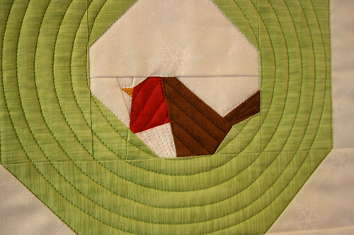 xmas wreath mini quilt 2