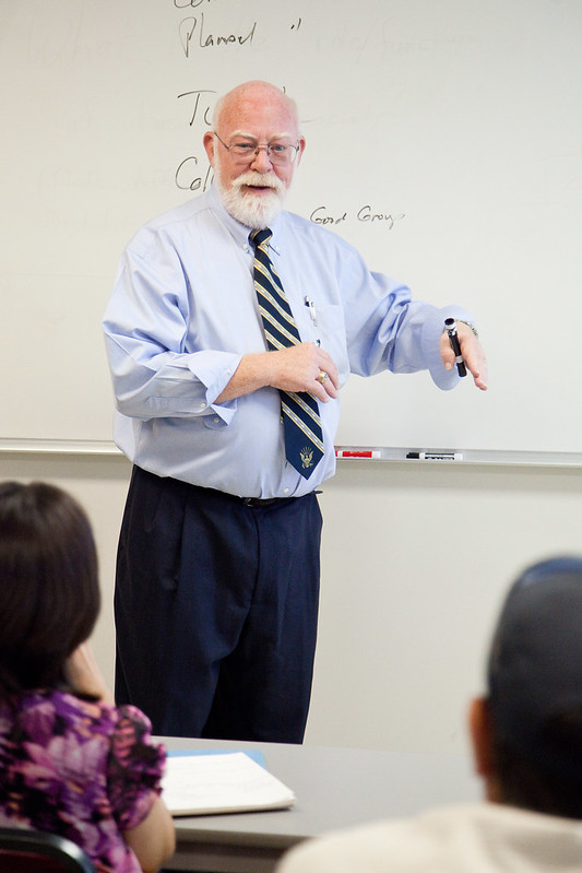 Professor teaching a class