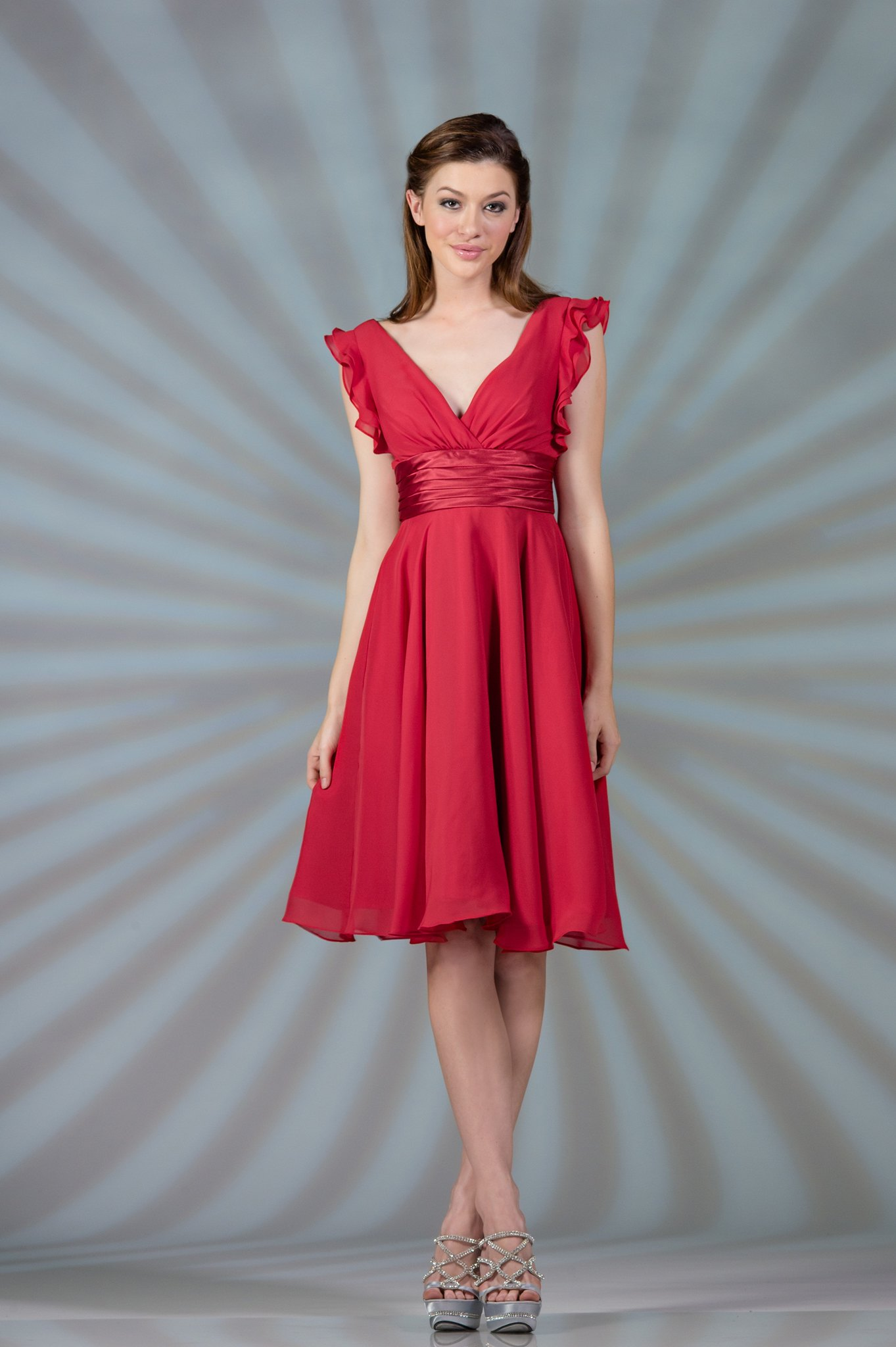 Cute Modest Prom Bridesmaid Plus Sizes Available Ruffles