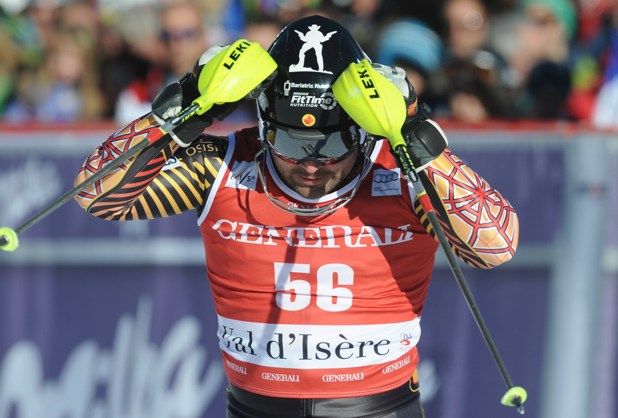Cousineau following a 18th place finish in the slalom in Val d'Isere, FRA