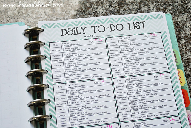 how to create a blog planner