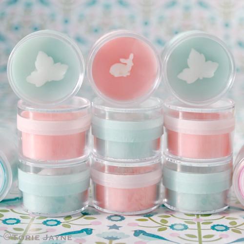 Pretty handmade lip balm
