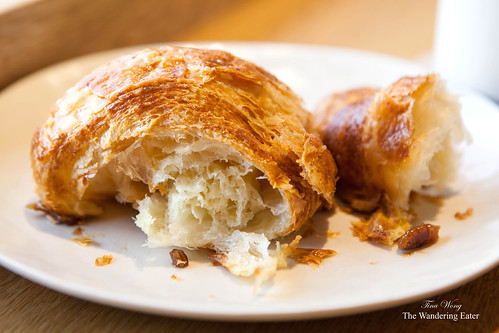 Inside the fluffy, flaky croissant