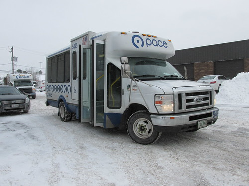 First Transit Ford paratransit mini bus # 5495.  Glenview Illinois.  January 2014. by Eddie from Chicago