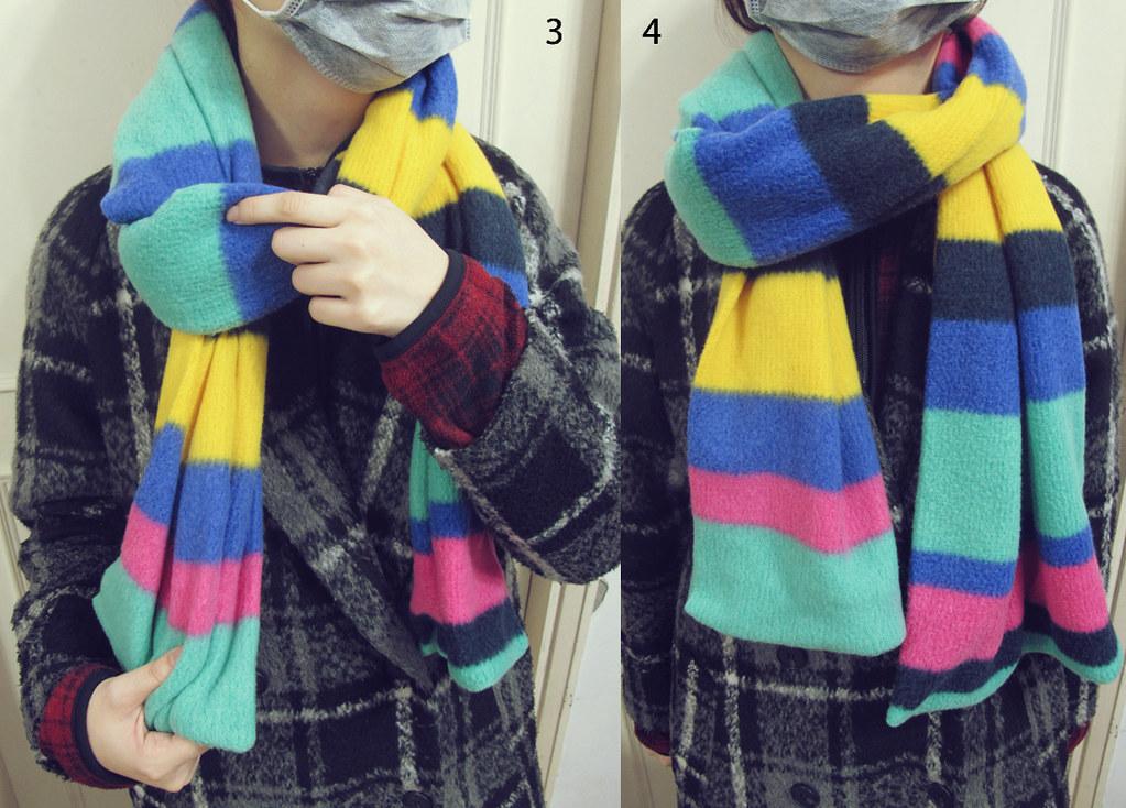 时尚简单的围巾打法-4步骤以内解决.