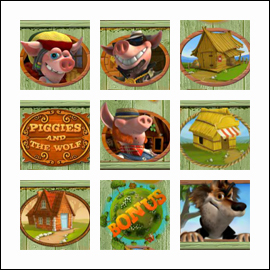 free Piggies and the Wolf slot game symbols