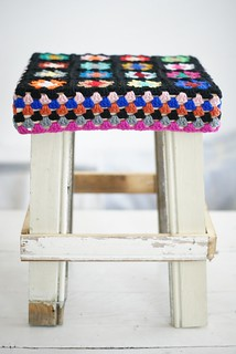 wood & wool stools