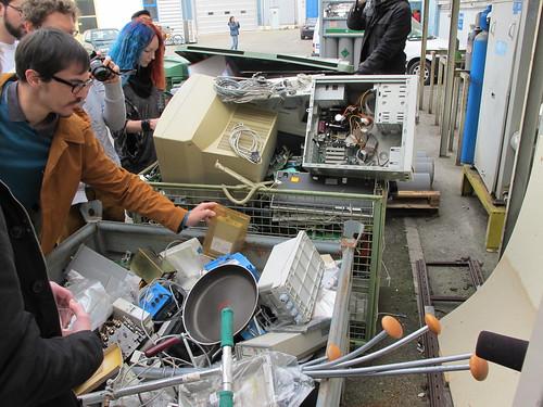 Rummaging through CERN bins for parts