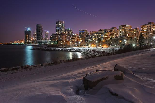 Purple Night Sky @ Humber Bay Park, Toronto