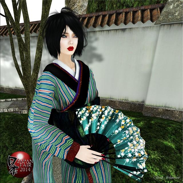 Sakka's Studio - UKIYOeGIRL Kimono KOMACHI - Green