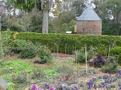 The round Smoke House on Boone Hall Plantation. It was erected in 1750 and is the oldest structure on the plantation founded in 1681.