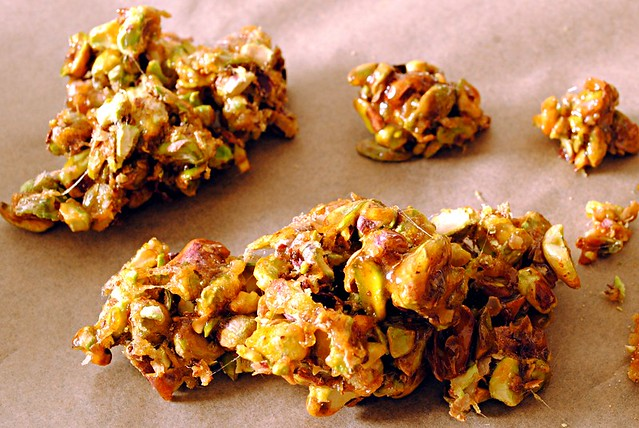 Salt caramel pistachios