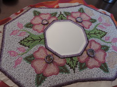 art, pattern, textile, needlework, patchwork, flower, design, crochet, circle, craft, pink,
