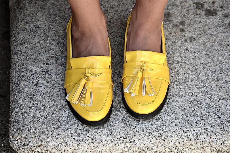 zapatos amarillos kling