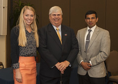 2014 Algernon Sydney Sullivan Award recipients Courtney Bessemer, William I. Sauser Jr. and Azeem Ahmed