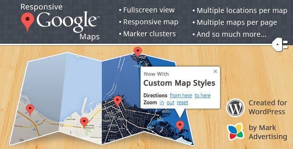 Responsive Google Maps WordPress Plugin free download