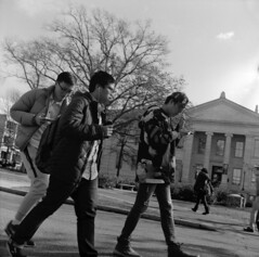Three Men on the American University Campus