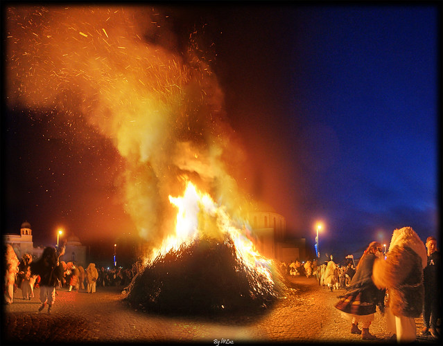 A big fire.