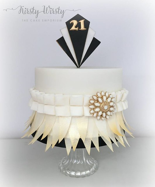 Art Deco Themed Cake by Kirsty Wirsty The Cake Emporium