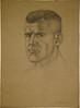 Study for a portrait of Lieutenant Keith Elliott by Leo Bensemann, c. 1942-1945
