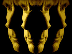 4 split lit faces.