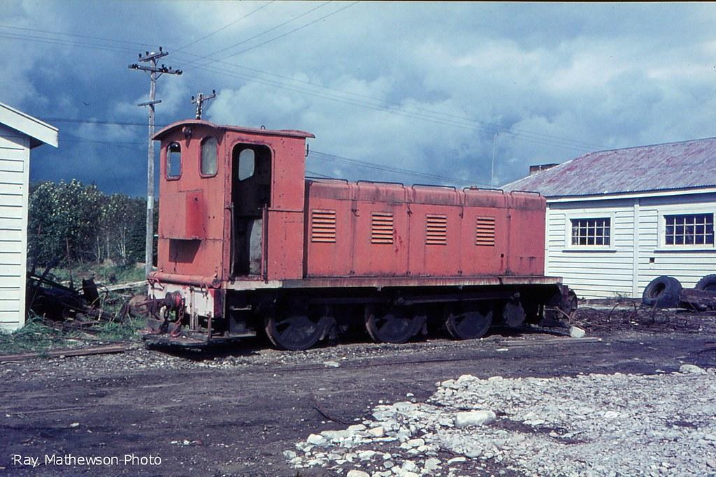 Ruatapu diesel loco rebuilt on an old steam loco frame. 1966