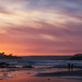 Sunset behind Burgh island by Sue Joselyn