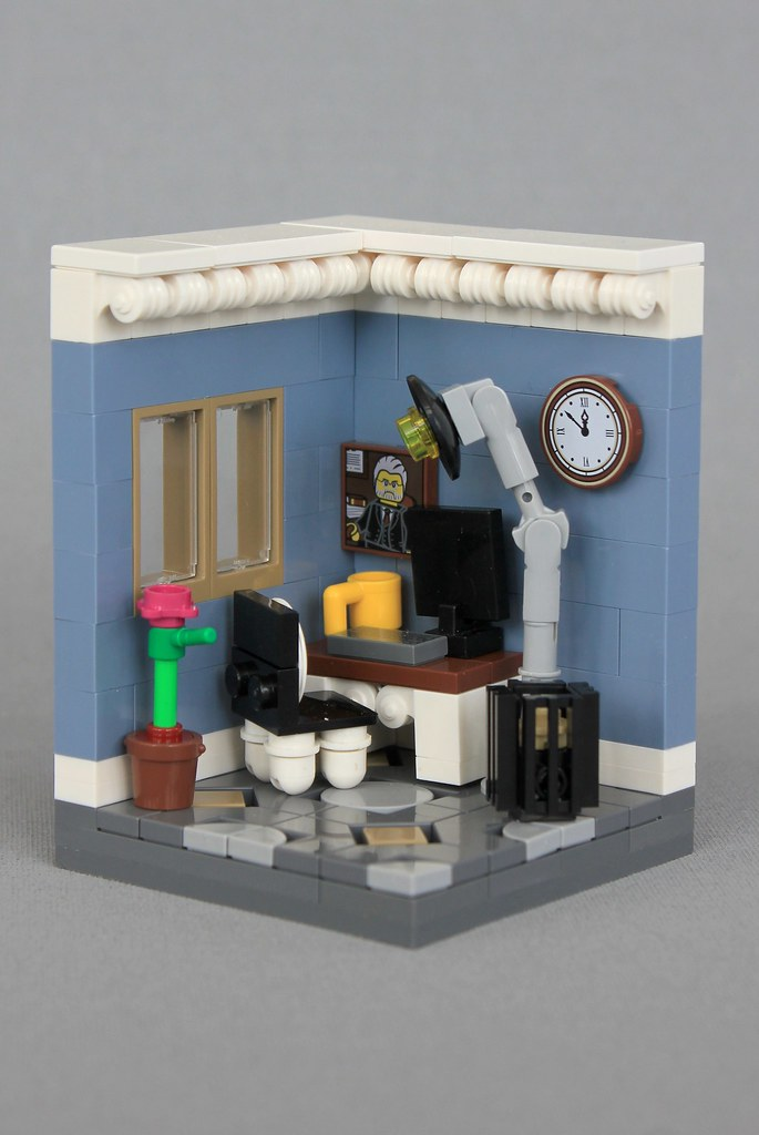 Home Office (custom built Lego model)