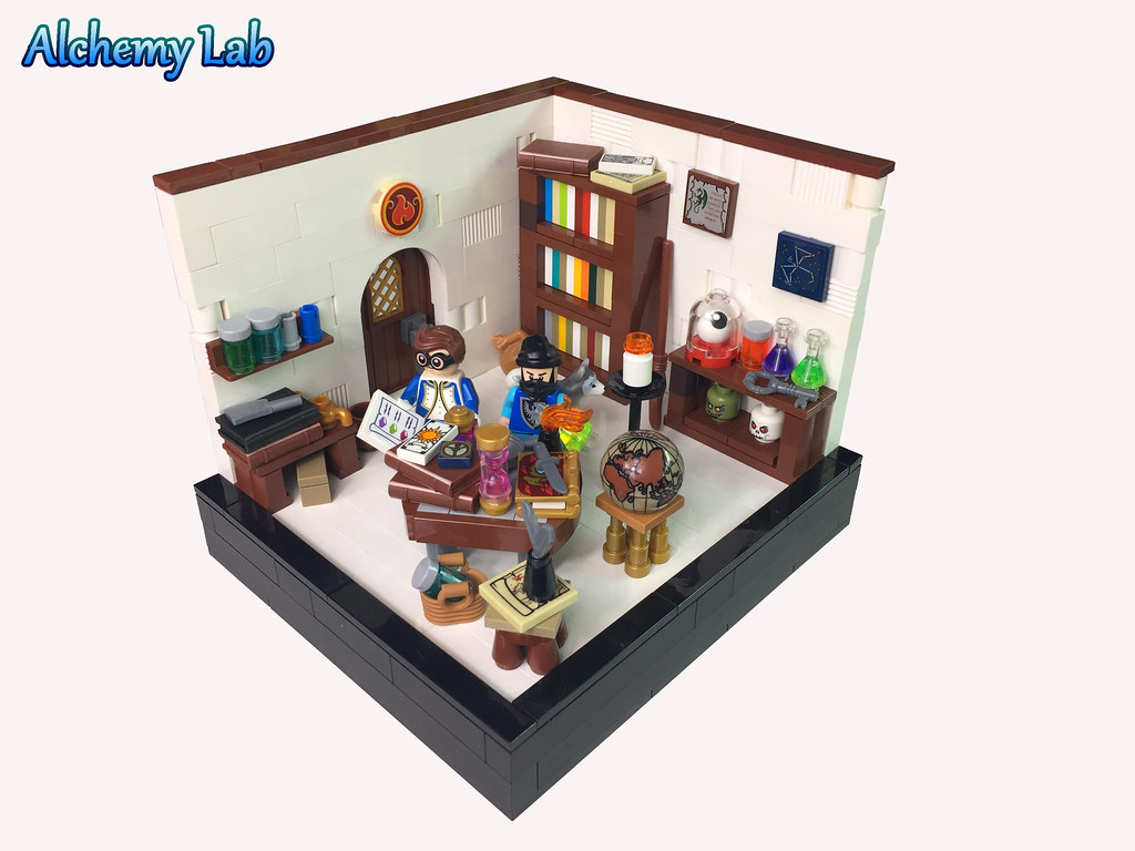Alchemy Lab (custom built Lego model)
